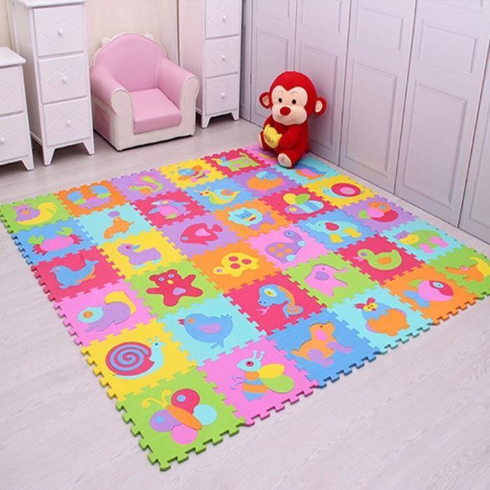 Tapis d'éveil,9 pièces-ensemble EVA mousse bébé tapis de jeu couture ramper tapis enfant Kruipen tapis assemblé Animal tapis Puzzle