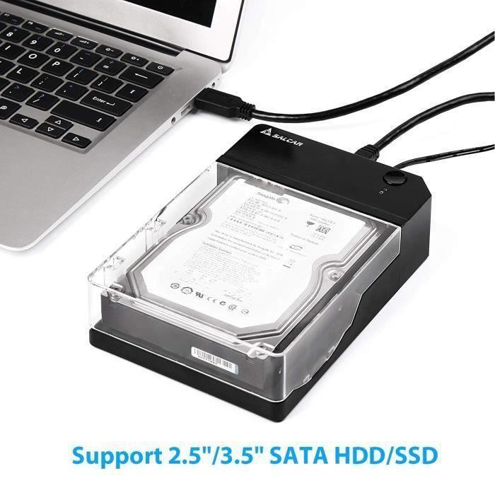 Station d'accueil Boîtier externe pour disque dur SATA 2.5 - - 3.5 -,Docking Station USB 3.0avec Alimentation *KI35031