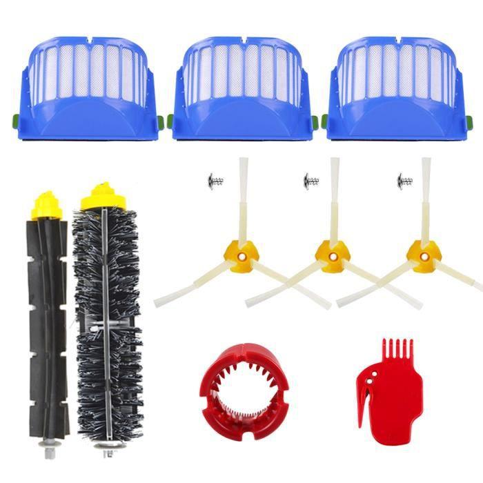 Unny 13pcs Kit Pièces accessoires Pour iRobot Roomba 600 Series 605 610 615 616 620 625 630 631 632 639 650 651 660 670 680 681