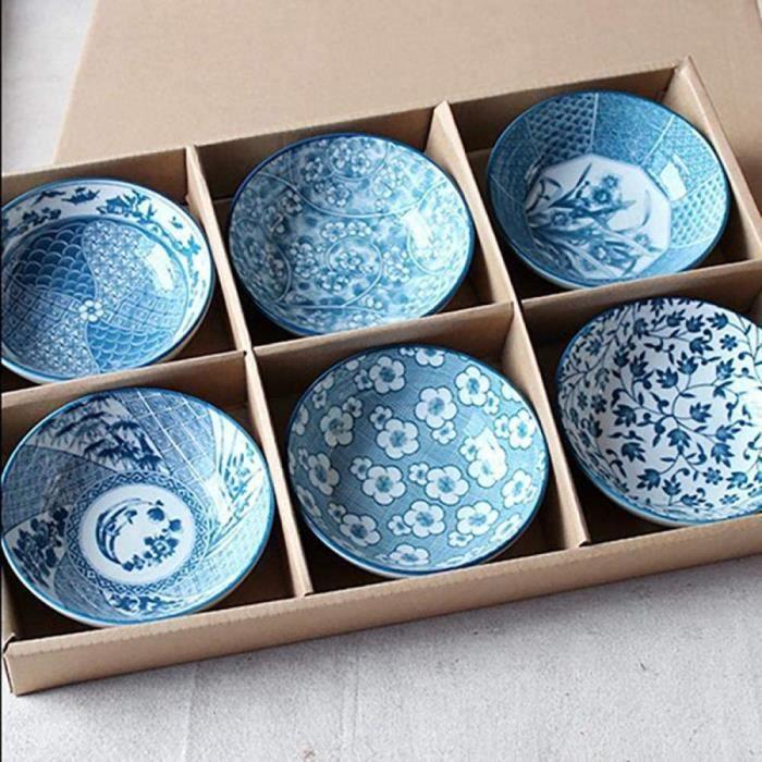 ASSIETTE Assiette de Diner Jingdezhen Vaisselle en Ceacuteramique Ensemble 46 Porcelaine Bleue Et Blanche sous Glaccedilure Coul1008