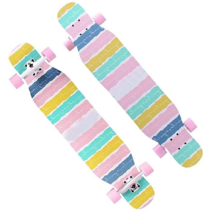 SKATEBOARD KHUY Longboard Skateboards 7 Couches &eacuterable Pont en Bois Longboards Adulte Cruiser Skate Boarde Dancing 43 Pouc538