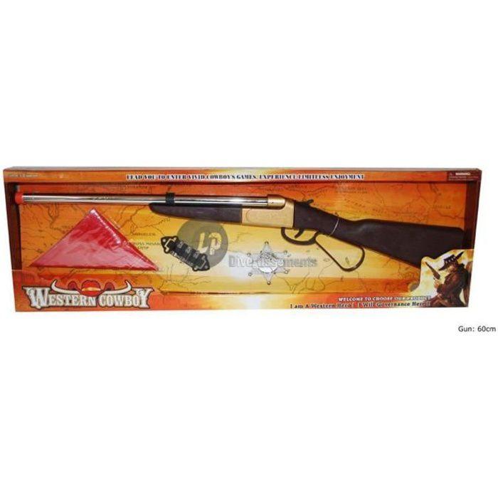 set fusil de cowboy 61cm et accessoires