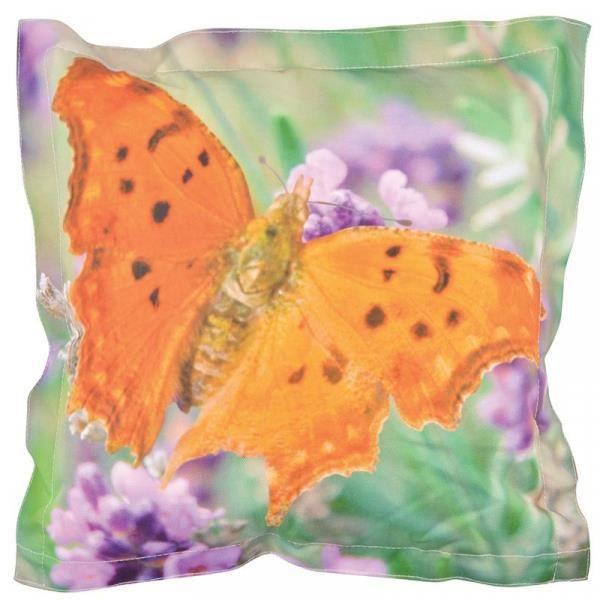 Coussin extérieur imperméable papillon 41,5 x 41,5 x 10,2 cm
