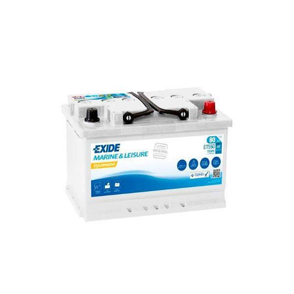 Exide - Batterie plomb ouvert EXIDE Equipment ET550 (550Wh) 12V 80Ah Auto