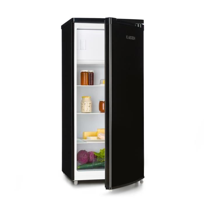 Klarstein Samara L Réfrigérateur Classique 181 L avec freezer - Crisper bac à légumes & clayettes amovibles - Classe A+ - noir