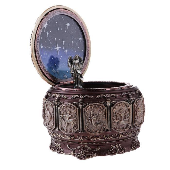Boîte à Musique LED Constellation Colorée pour Cadeau de Mariage / Anniversaire -Sagittaire Footful
