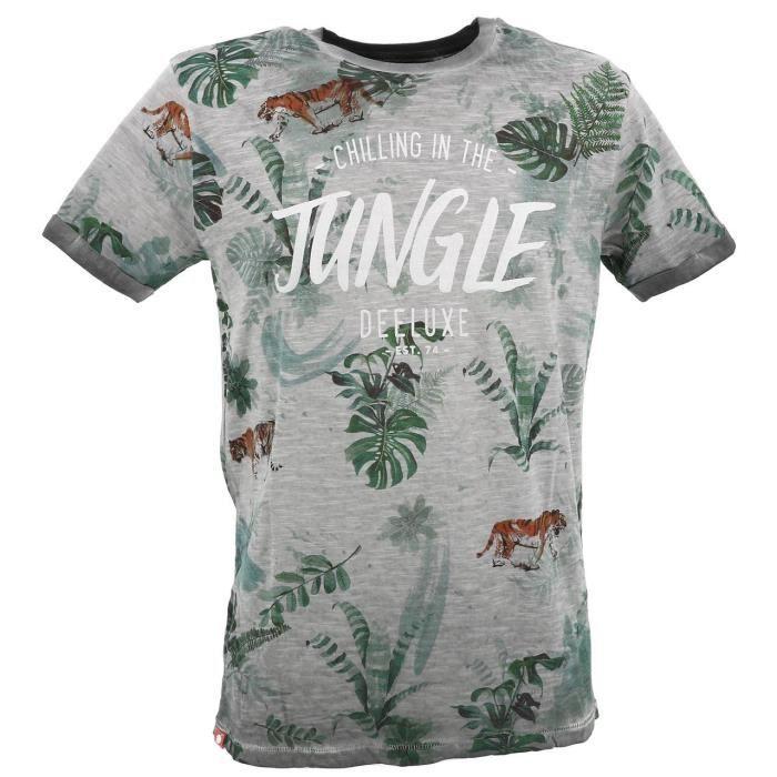 Tee shirt manches courtes Joshua grey mc tee - Deeluxe