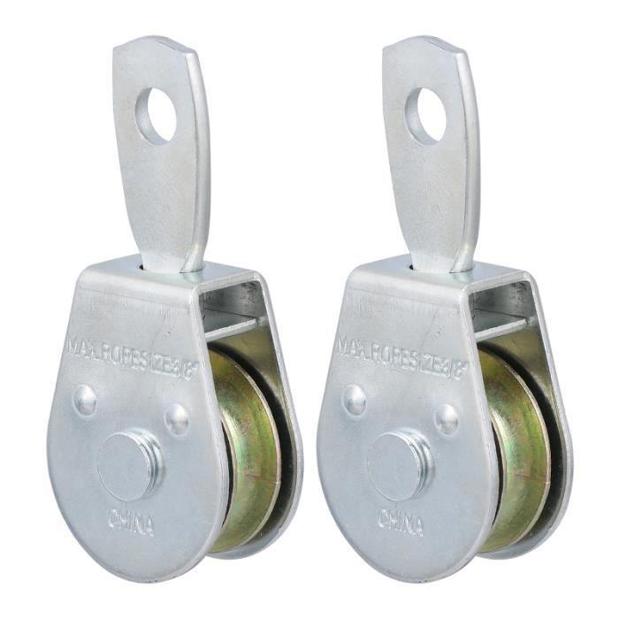 2 blocs de roue professionnels durables de première qualité de poulie de barre pour traction - dip station fitness - musculation