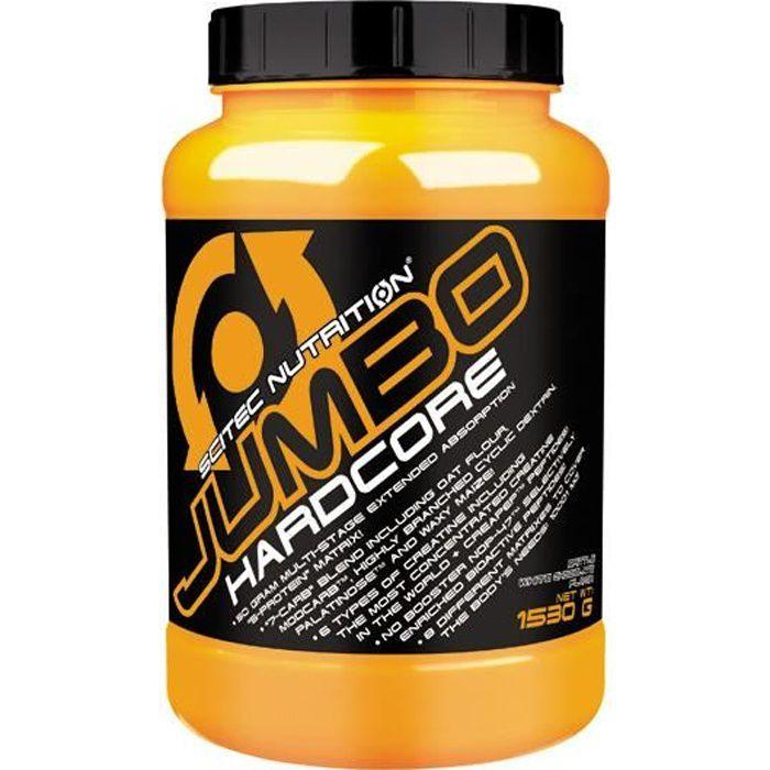 Jumbo hardcore 1530g CHOCO BLANC CROUSTILLANT - Scitec Proteine Gainer Creatine Whey
