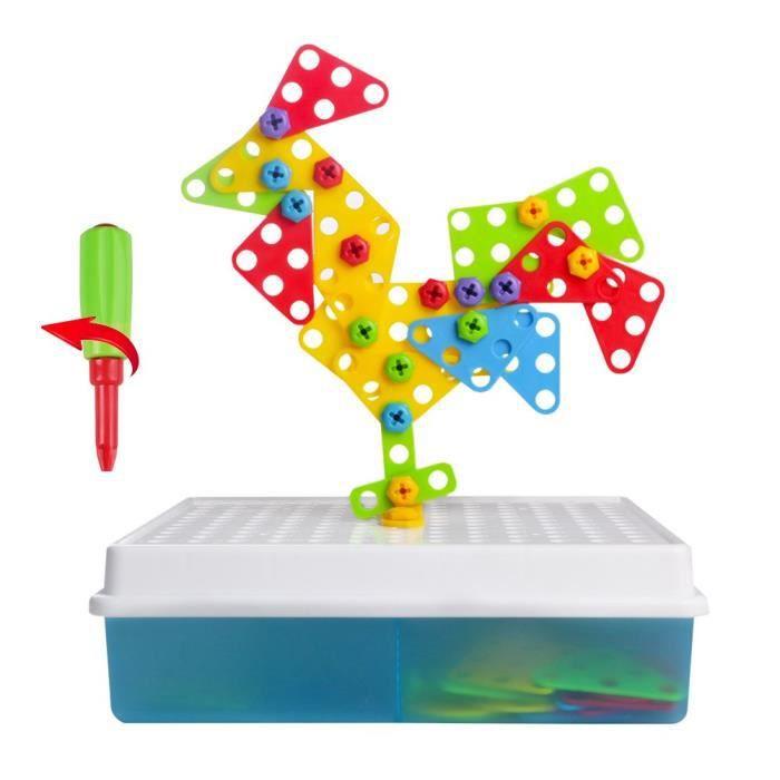 ASSEMBLAGE CONSTRUCTION 3d Diy jeu Puzzle Prendre part Mosaïque Pegboard I