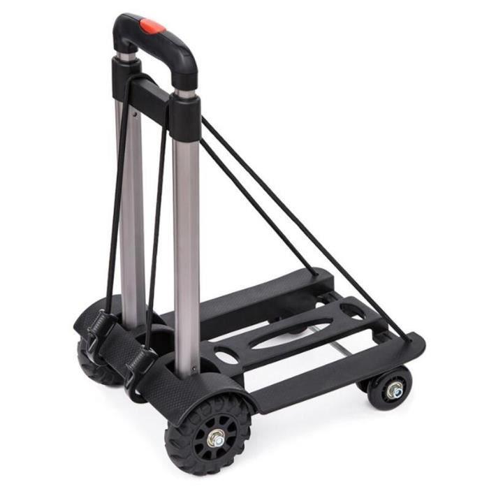 Léger Solide Shopping Chariot pliable durable à roues Carreaux Sac