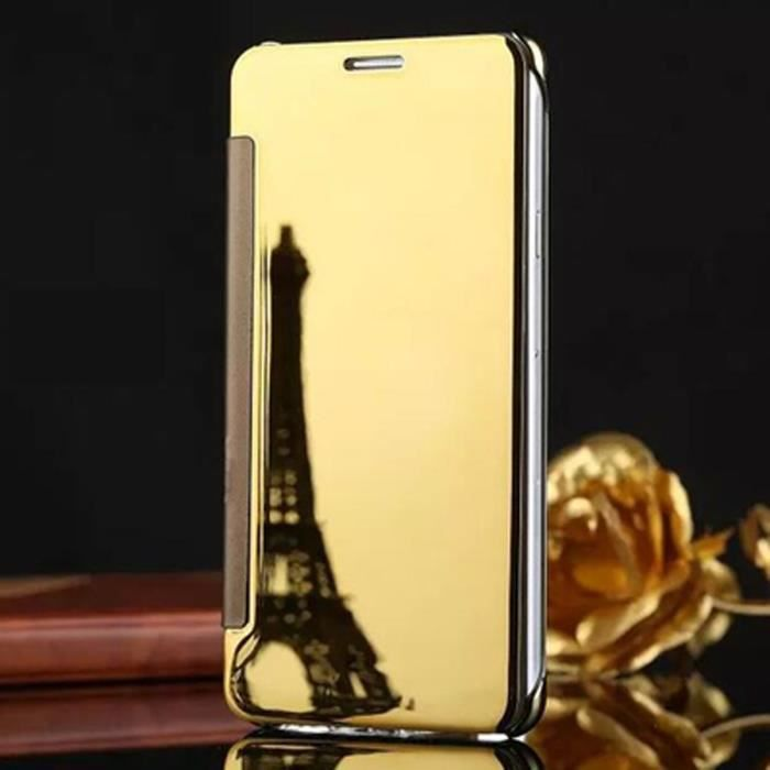 Clapet tui iphone 5s or motif placage translucide miroir for Miroir intelligent