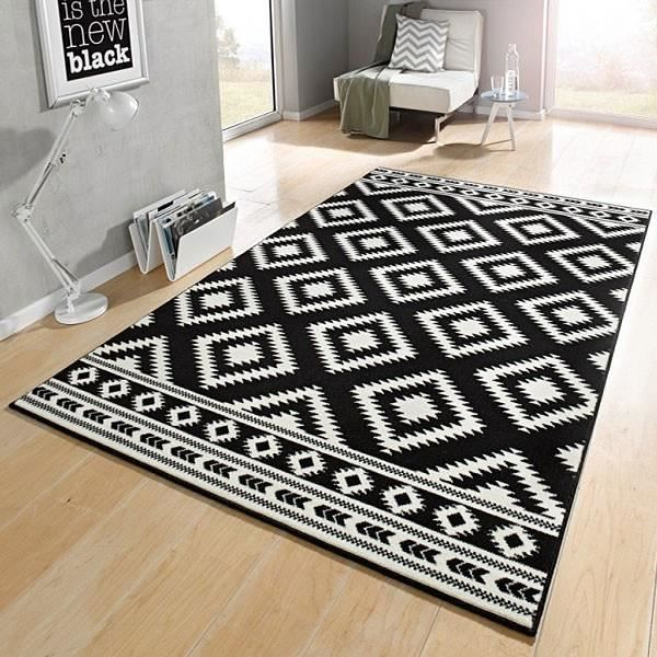 designer tapis ethno noire cr me achat vente tapis. Black Bedroom Furniture Sets. Home Design Ideas