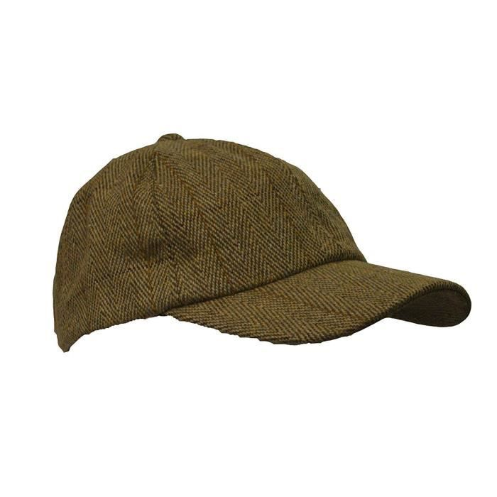Casquette plate Derby tweed//imperm/éable sauge clair unisexe Walker /& Hawkes campagne