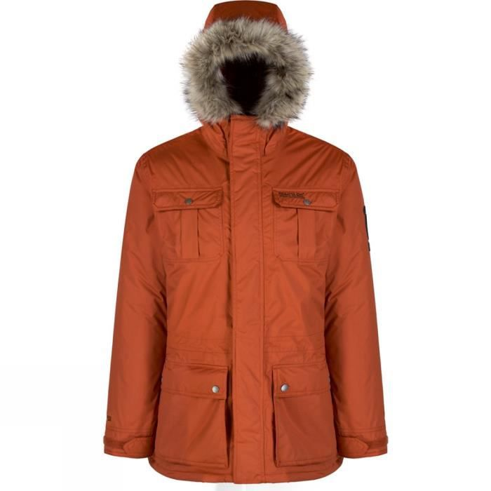 regatta saltoro veste parka imperm able homme orange rouille achat vente parka cdiscount. Black Bedroom Furniture Sets. Home Design Ideas