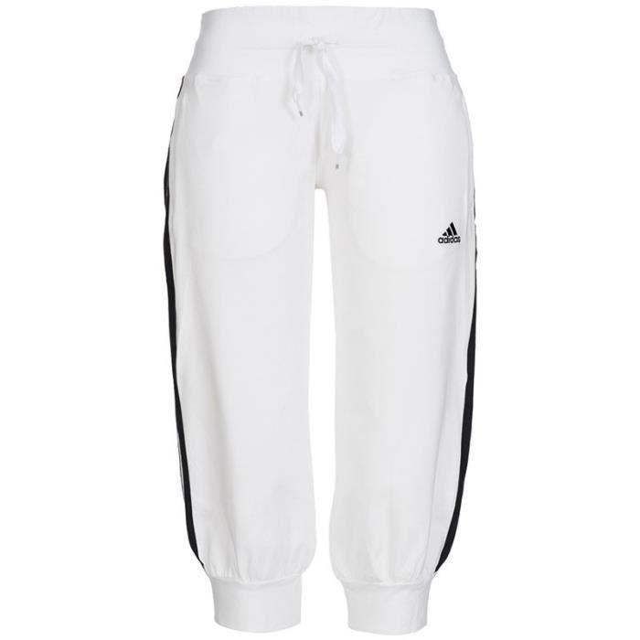 Pantalon 34 ESS 3S Blanc Entrainement Femme Adidas ADIDAS