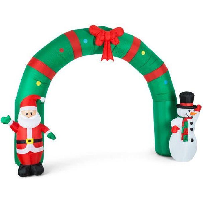 P/ère No/ël Gonflable Christmas Santa Claus Gonflable De No/ël De Poup/ée p/ère No/ël de chevauchant lours Blanc pour la d/écoration de Jardin de Cour int/érieure//ext/érieure de No/ël gonflage Rapide