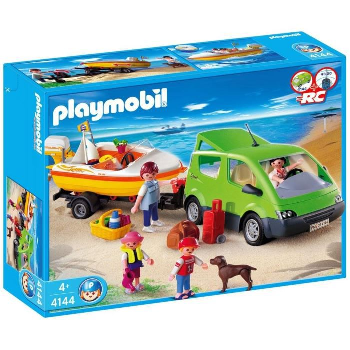 playmobil voiture familiale avec remorque achat vente camion enfant cdiscount. Black Bedroom Furniture Sets. Home Design Ideas