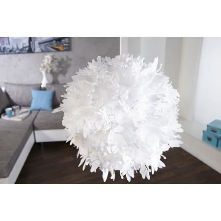 Lampe suspension design blanche bloom 50 cm achat for Lampe suspension blanche