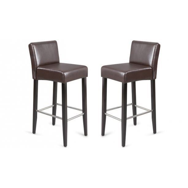 lot de 2 tabourets de bar bell chocolat achat vente tabouret marron cdiscount. Black Bedroom Furniture Sets. Home Design Ideas