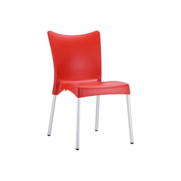 Chaise design rouge john achat vente chaise cdiscount - Cdiscount chaise design ...