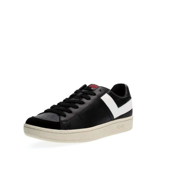 PONY WHITE BLACK Homme SNEAKERS 45 qqgBHPRx