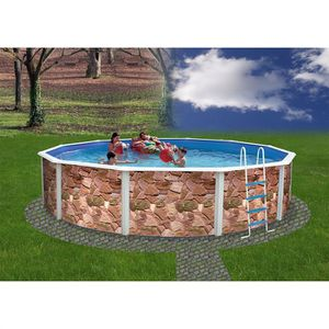 Liner piscine ronde 5m50 1m30 achat vente liner for Liner 460x120 pour piscine ronde