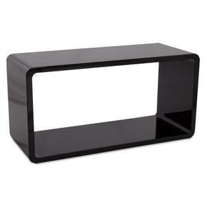 CASIER POUR MEUBLE Cube de rangement 'UNO' en bois laqué noir bril...