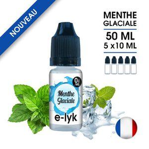 LIQUIDE E-liquide saveur Menthe Glaciale 50 ml en 0 mg de