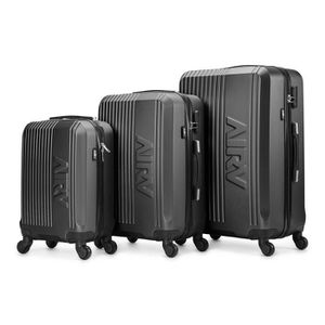 SET DE VALISES Set de 3 valises ABS trolleys Air V Lina - Gris