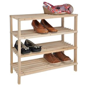 etagere chaussure bois achat vente etagere chaussure. Black Bedroom Furniture Sets. Home Design Ideas