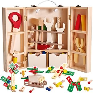 Outils Bricolage Enfant,Bo/îte /À Outils Jouet /Éducatif Bricolage Jouet Denfance En Bois