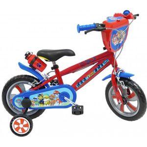 VÉLO ENFANT PAT PATROUILLE Vélo 12''- Avec 2 freins - Rouge et