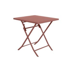 TABLE DE JARDIN  Table de jardin carrée Greensboro 70 x 70 cm Terra