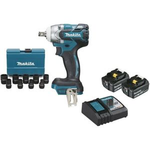 BATTERIE MACHINE OUTIL Boulonneuse à chocs brushless MAKITA 18V - 2 batte