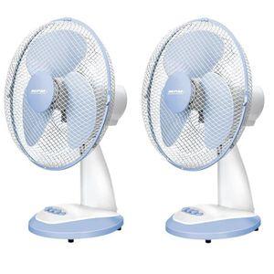VENTILATEUR Lot de 2 Ventilateurs MPM Ventilateur de Table sil