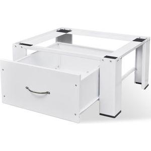 PIÈCE LAVAGE-SÉCHAGE  Socle pour machine à laver avec tiroir Blanc