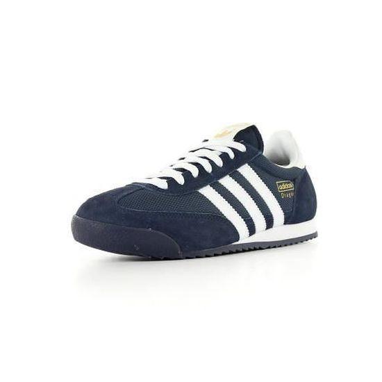 Adidas Dragon Bleu Bleu marine et blanc - Cdiscount Chaussures