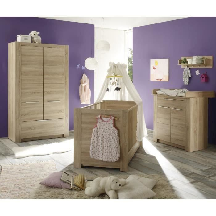 carlotta chambre b b compl te 3 pi ces lit armoire commode achat vente chambre. Black Bedroom Furniture Sets. Home Design Ideas
