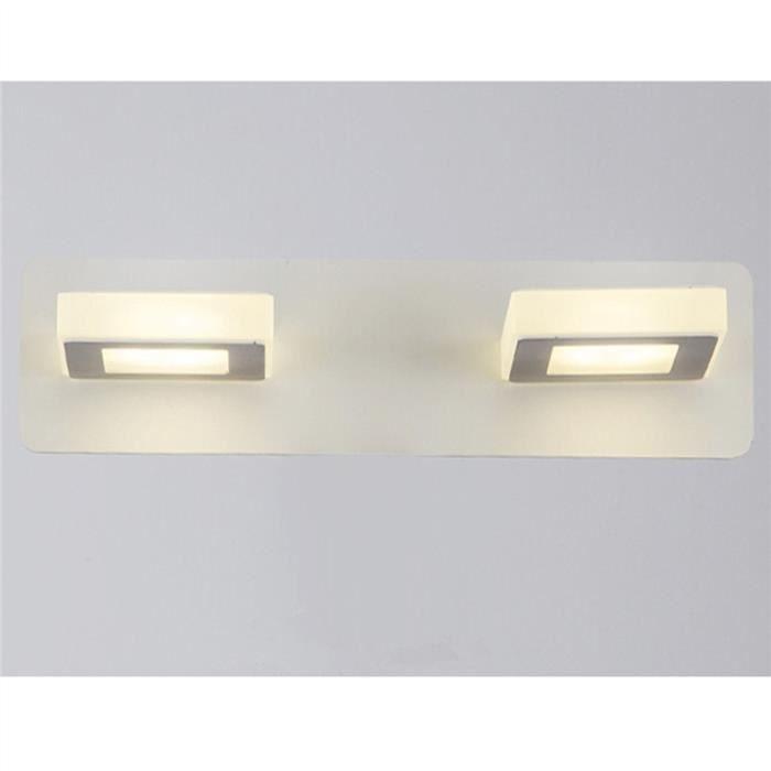 Les appareils d'éclairage de salle de bains ont mené la lumière de bras de lumière de bras de mur de cube en acrylique 10W (lumière