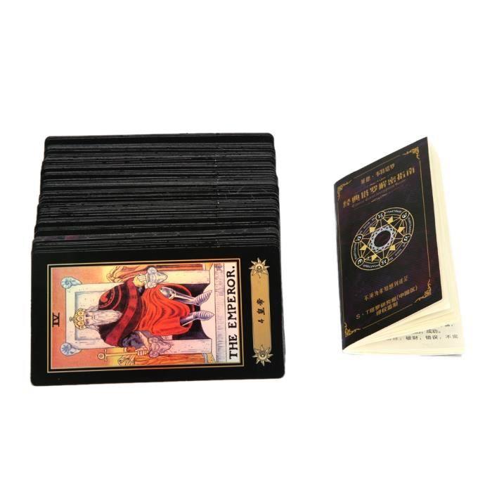 Jeu de cartes de tarot Vintage 78 cartes Rider Waite Future Dire le jeu avec une boîte colorée