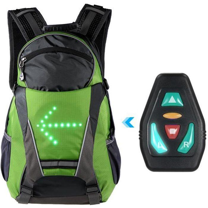 18L Vélo Sac À Dos Vélo LED Clignotant Lumière Sac Réfléchissant Sac Pack Sécurité extérieure Night Riding Running Sac À Dos