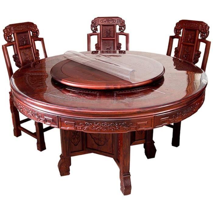 Nappes pour table de jardin Rond Transparent Nappe de table Housse de table pour la maison Imperméable PVC 1 mm d'épaiss 141119