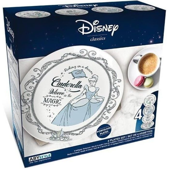 Assiettes - Disney Princesses - Set De 4 Assiettes
