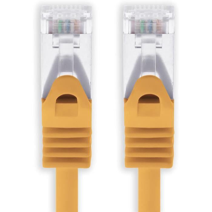 Câbles Ethernet Câble réseau Cat. 7 Gigabit Câble Ethernet LAN avec prise (RJ45) Cat6 a (Double blindage) 500 MHz 0,25 m 279962