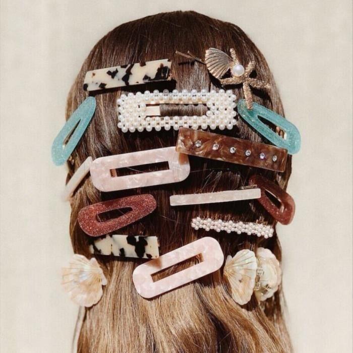 bandeau - serre-tête -Dvacaman résine Barrettes bébé filles pince à cheveux épingles femmes mariage m...- Modèle: 26 - MIZBFSC04028