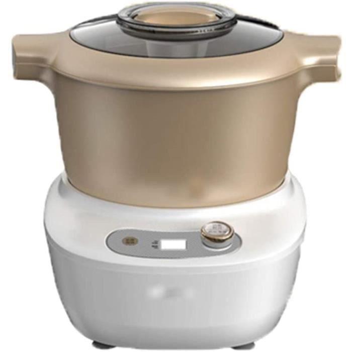 XLSQW Mixer pâte électrique, Machine à Pain Pétrin Alimentaire Mélangeurs Pétrissage Cuisine Mixer, avec 5L Jatte, Crochet pétrisseu