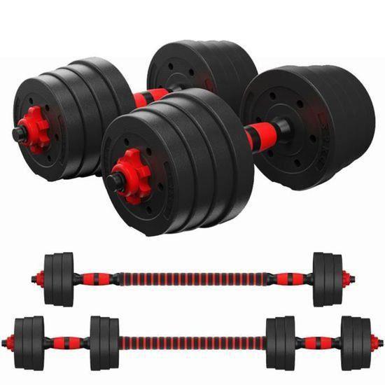 Lot de Haltère 20 kg poids ajustables Haltères musculation