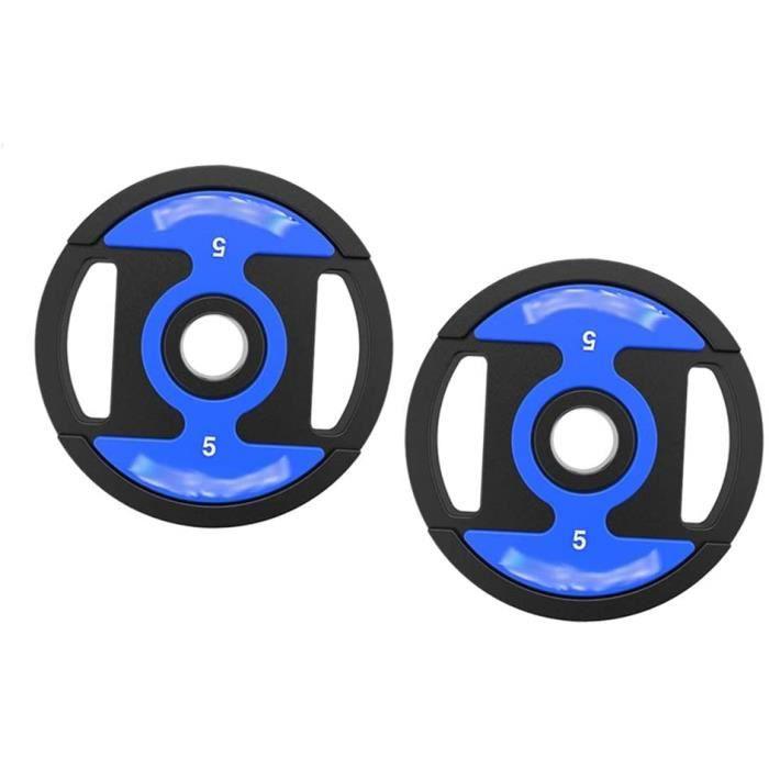 Barres d'haltères Plaques de poids d'entraînement Set - 5kg - 10kg - 20KG - 40KG 2PCS olympique d'haltérophilie conseils Kit en[481]