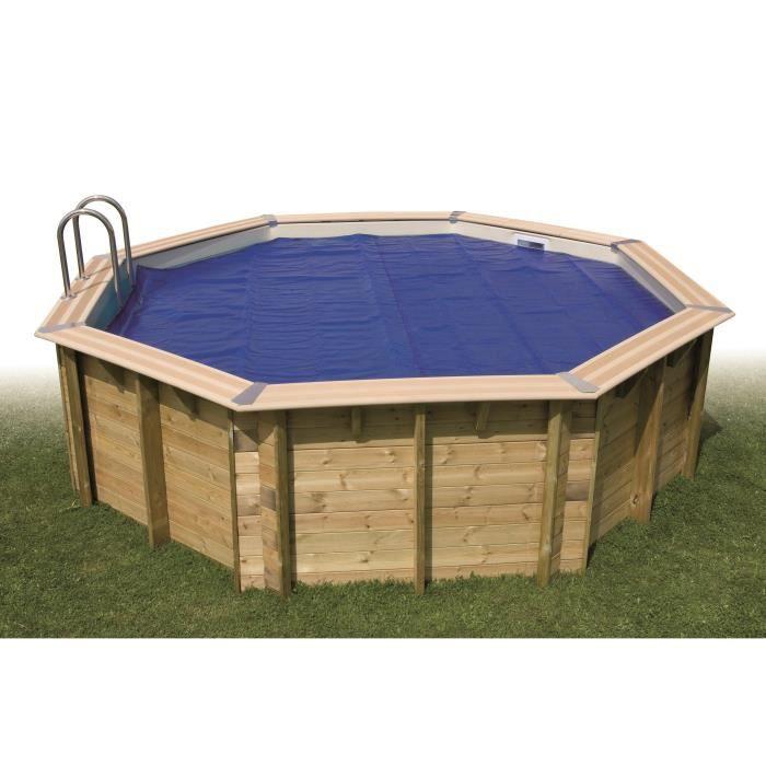 UBBINK Bâche à bulles bordée pour piscine en bois Ø450 cm - Bleu